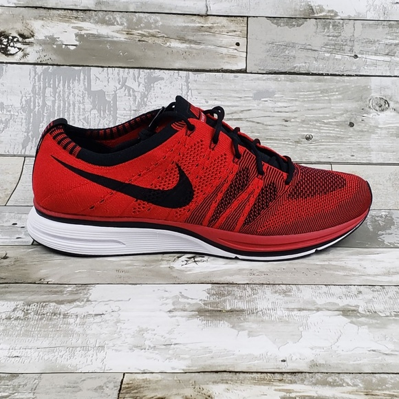 54dfb2da55f12 Nike Air Flyknit Trainer University Black Red Race